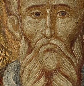 Detaliu portret după restaurare.