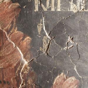 Disclocări ale suprafeței murale.
