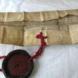 Pergamentul înainte de restaurare.