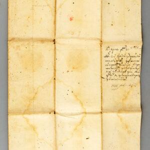 Verso-ul documentului înainte de restaurare.