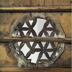 Detaliu element decorativ, înainte de restaurare.