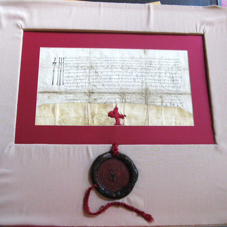 Pergamentul după restaurare