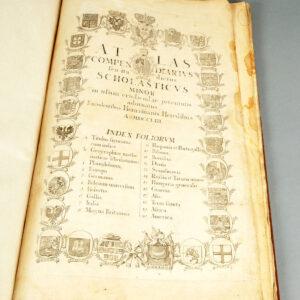 Prima filă a atlasului după restaurare.