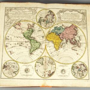 Hartă din interiorul atlasului.
