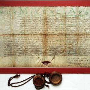 Pergamentul după restaurare.